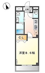 新京成電鉄 鎌ヶ谷大仏駅 徒歩4分の賃貸マンション 1階1Kの間取り