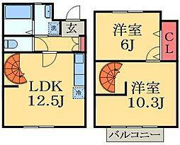 [テラスハウス] 千葉県千葉市花見川区三角町 の賃貸【/】の間取り