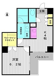 東京都練馬区中村北4丁目の賃貸マンションの間取り