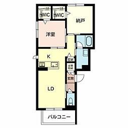 Osaka Metro御堂筋線 新金岡駅 徒歩14分の賃貸マンション 3階1SLDKの間取り