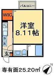 東武野田線 新鎌ヶ谷駅 徒歩16分の賃貸アパート 2階1Kの間取り