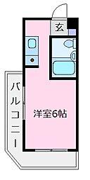 ロイヤルハイツ北野田[4階]の間取り
