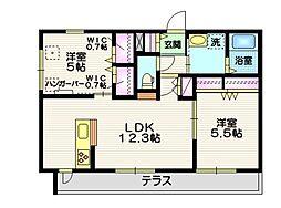 仮称 平戸町メゾンB棟 1階2LDKの間取り