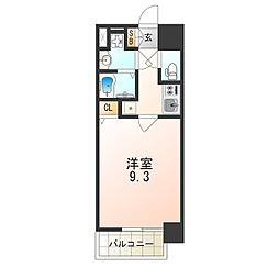 JR大阪環状線 西九条駅 徒歩4分の賃貸マンション 6階1Kの間取り