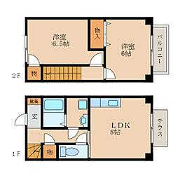 [テラスハウス] 滋賀県東近江市垣見町 の賃貸【/】の間取り