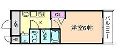 プレミアムコート天神橋エイト[8階]の間取り