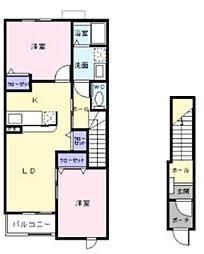 Live有泉B[2階]の間取り