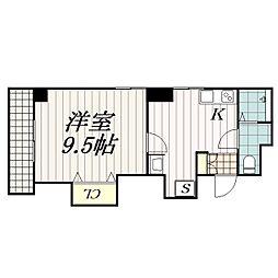 須山ビル[503号室]の間取り