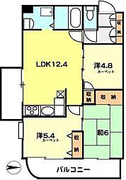 埼玉県朝霞市根岸台3丁目の賃貸マンションの間取り