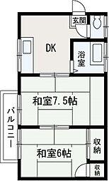 埼玉県新座市大和田1丁目の賃貸アパートの間取り