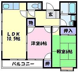 メゾンK1[2階]の間取り