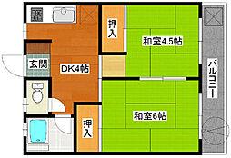 平塚第1マンション[2階]の間取り