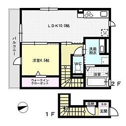 ブラン惣利[2階]の間取り