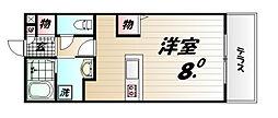 コンフォート小山[C201号室]の間取り