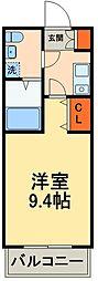京成本線 船橋競馬場駅 徒歩6分の賃貸アパート 3階1Kの間取り