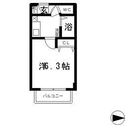 メゾン・ド・青山[1階]の間取り