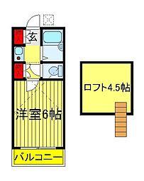 千代田ハイツ(松戸)[2階]の間取り