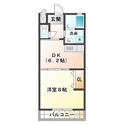 愛知県豊橋市牟呂大西町の賃貸アパートの間取り
