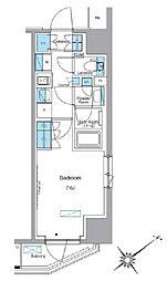 東武東上線 下赤塚駅 徒歩2分の賃貸マンション 8階1Kの間取り