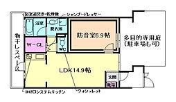 大阪府豊中市螢池南町3丁目の賃貸アパートの間取り