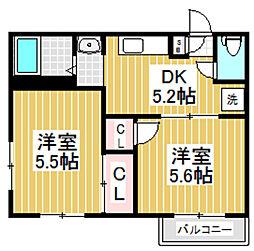 東京都杉並区成田東3丁目の賃貸アパートの間取り