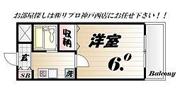 グランディアルネ西神弐番館[2d号室]の間取り