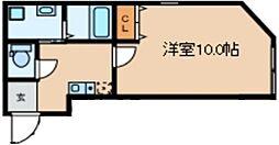 Glanlink Komazawa 2階1DKの間取り
