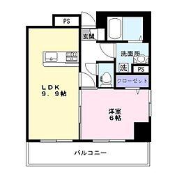 新鎌スカイタワー[1階]の間取り