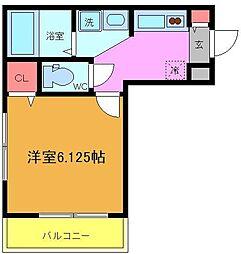 ドゥミエール・ソフィア[3階]の間取り
