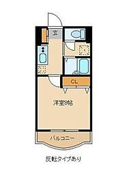 リバークレーン[2階]の間取り