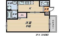 エヌエムサンカンテトワ[3階]の間取り