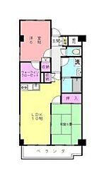 神奈川県横浜市青葉区荏田西1丁目の賃貸マンションの間取り