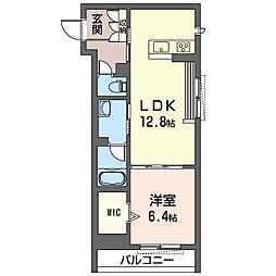 仮称 さいたま市浦和区上木崎2丁目シャーメゾン 2階1LDKの間取り