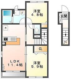 ケーズアバンティ[2階]の間取り