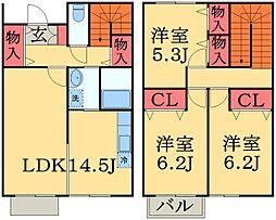 [テラスハウス] 千葉県千葉市中央区蘇我3丁目 の賃貸【/】の間取り
