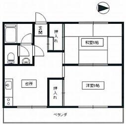 東京都立川市幸町6丁目の賃貸マンションの間取り