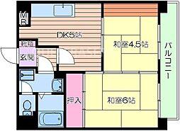 グラン・ピア京橋[4階]の間取り