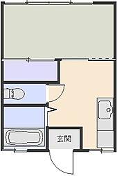 コーポ金子[102号室]の間取り