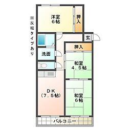 マンションHU[4階]の間取り