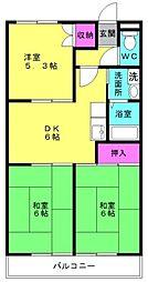 近藤マンション[202号室]の間取り