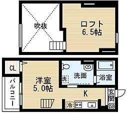 南海線 堺駅 徒歩15分の賃貸アパート 1階1Kの間取り