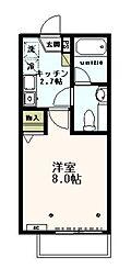 東京都日野市平山3丁目の賃貸アパートの間取り