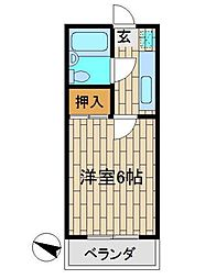 須藤マンション[1階]の間取り