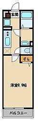 西武池袋線 所沢駅 徒歩8分の賃貸アパート 3階1Kの間取り