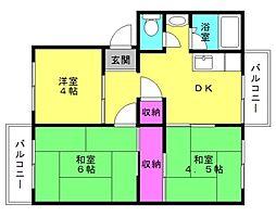 加古川城ノ宮住宅[1-106号室]の間取り