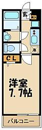 リブリ・ANGEL狛江III 1階1Kの間取り