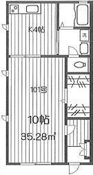 東京都新宿区四谷3丁目の賃貸アパートの間取り