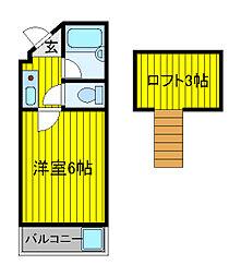 ジュネパレス塚本[2階]の間取り