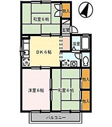 シーサイドハウス A[205号室]の間取り