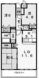 サンパティーク・レジダンス[6階]の間取り